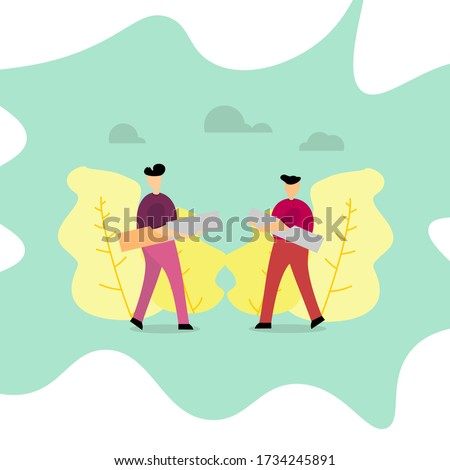 two men are breaking cigarettes