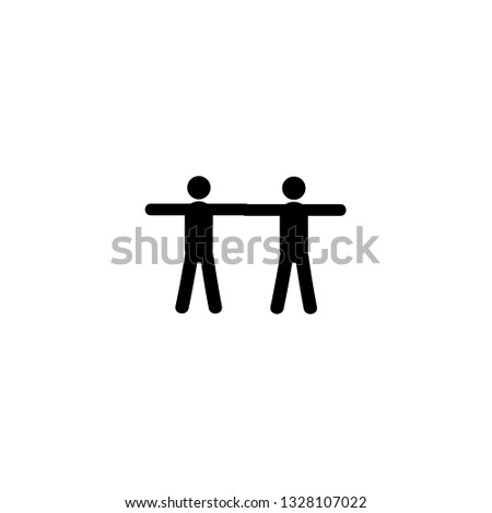 two men arm by arm icon vector. two men arm by arm vector graphic illustration