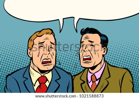two men friends crying comic