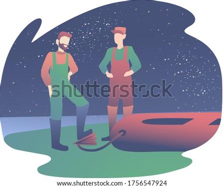 two men go fishing fisherman