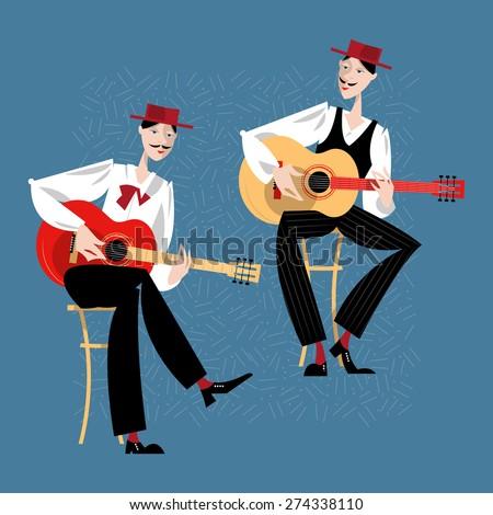 two men playing a guitar