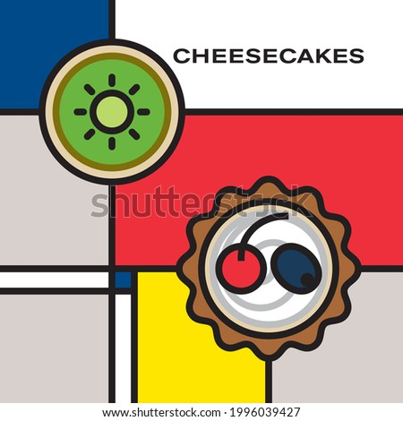 two mini fruit cheesecakes