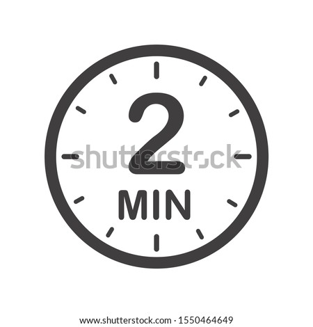 two minutes icon symbol for