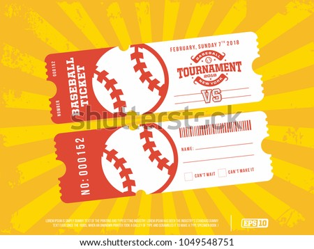 two modern professional design of baseball tickets in green theme