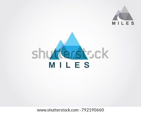 two mountain with road and