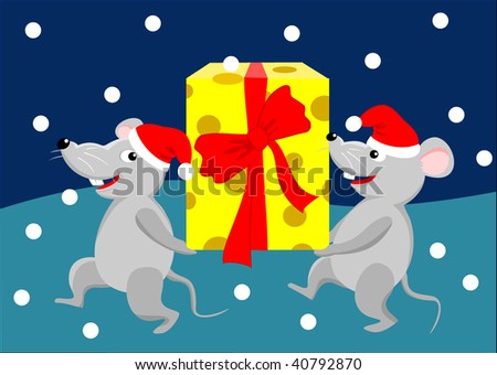 two mouses with gift