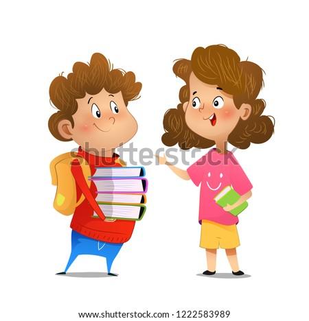 two multiracial children