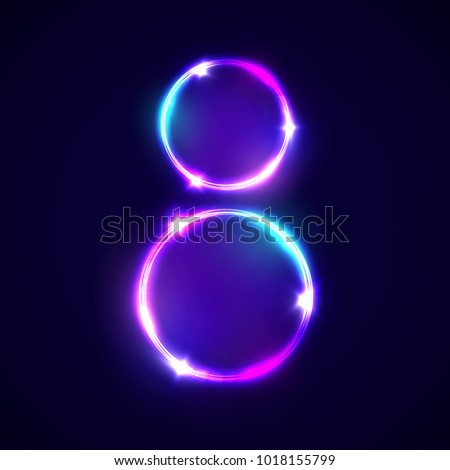 two neon glowing circles