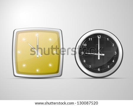 two of the vector clock, round and square
