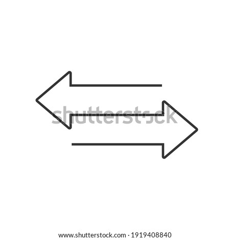 Two opposite arrows icon. Transfer vector sign  Stok fotoğraf ©