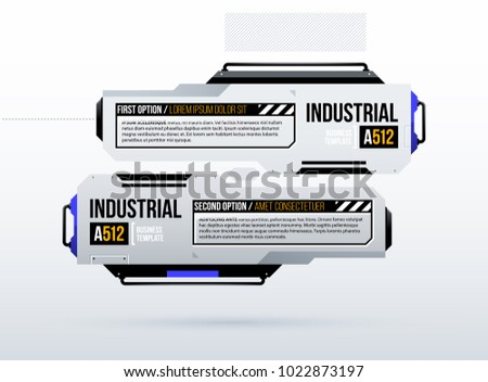 Two options template in clean hi-tech/techno style on white background