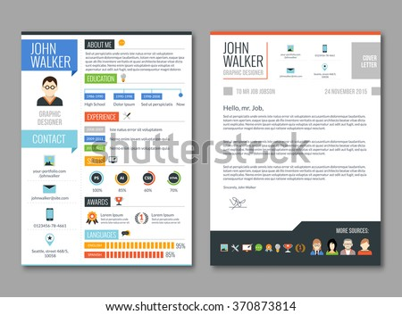 two pages job candidate cv