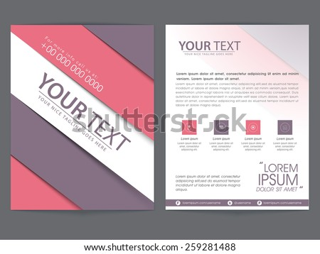 Brochure Holder Download Free Vector Art Stock Graphics Images - Brochure template for pages