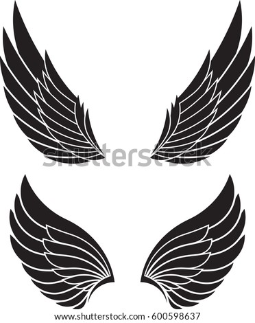 two pairs of decorative vector