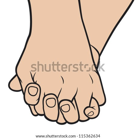 two pairs of hands in love (love concept, hand to hand love, holding hand, holding hands, man and woman hands, hand touches hand)