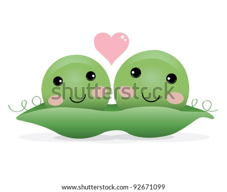 Two Peas in a Pod Illustration