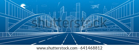two pedestrian bridges over