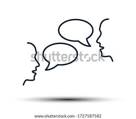 Two people are talking, people's conversation, chatting, discussion, negotiations, dialogue, interlocutors, communication - stock vector Stockfoto ©