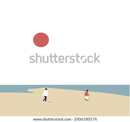 two people walking down the