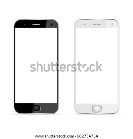 Two phones. Realistic device - stock vector
