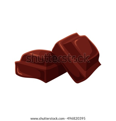 two pieces of chocolate