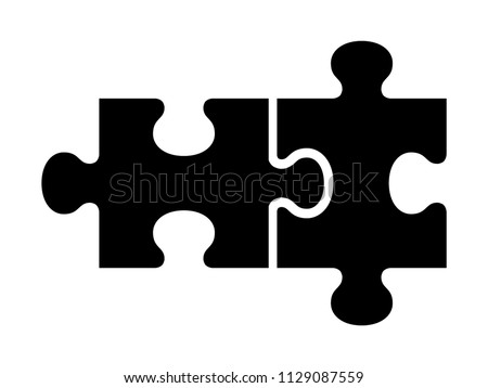 two pieces of jigsaw puzzle or