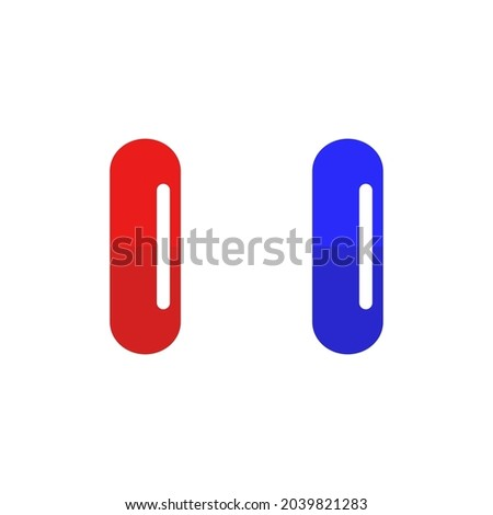 two pills icon vector flat