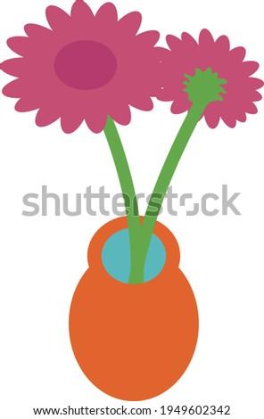 two pink gerbera flowers in a