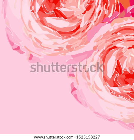 two pink roses with delicate