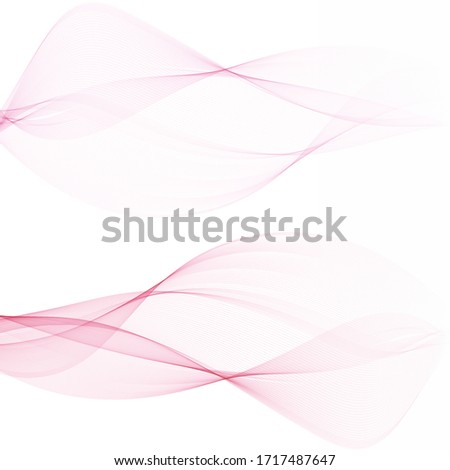 two pink waves on a light