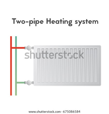 two pipe heating system steel