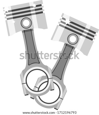 two pistons with connecting