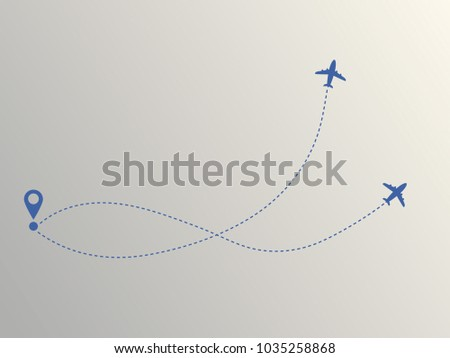 two planes and their way