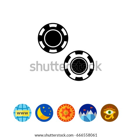 two poker chips icon