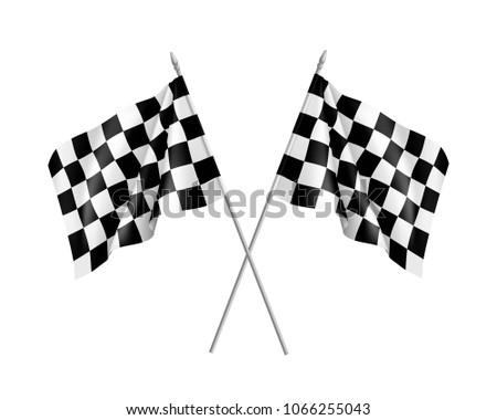 two racing flags crossed