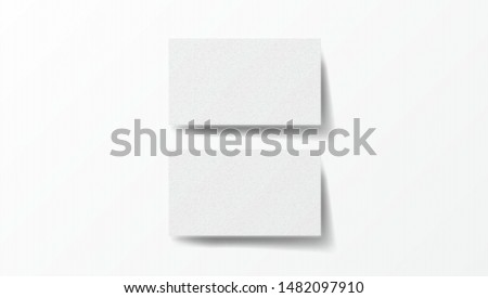 Two Realistic Business Cards On White Background Template. EPS10 Vector