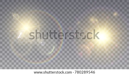 two realistic lens flare