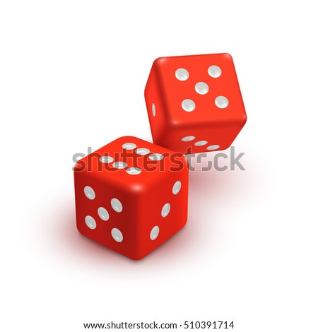 two red dices  casino vector