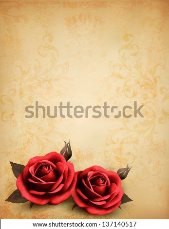 two red rose in front of a