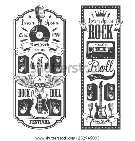 two rock and roll music flayer