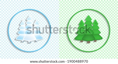 two round icons or emblems