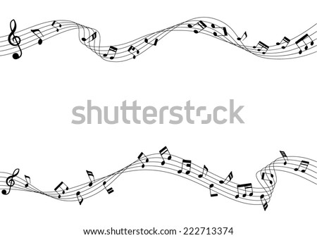 two row of musical notes and
