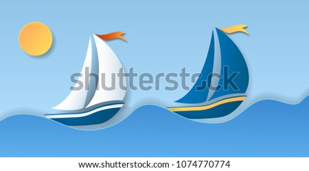 two sailboat on sea waves