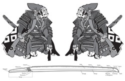 Two Samurai warriors