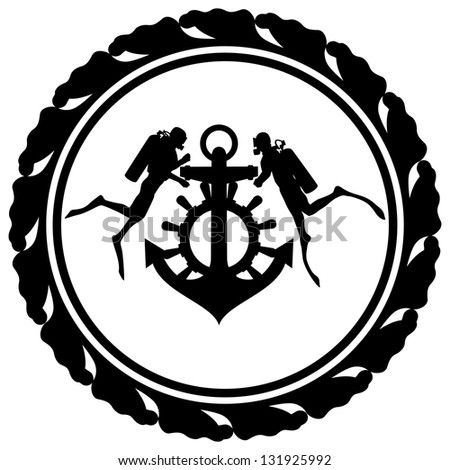 Anchor Wheel Drawing Steering Wheel And Anchor