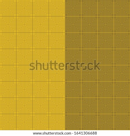 two seamless tile patterns in