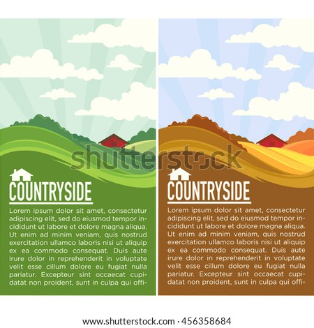 two seasons  vector rural