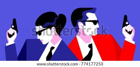 two secret agents  spies