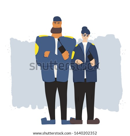 two security guards standing