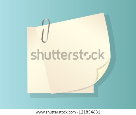 two sheets of paper with a curved edge and clip